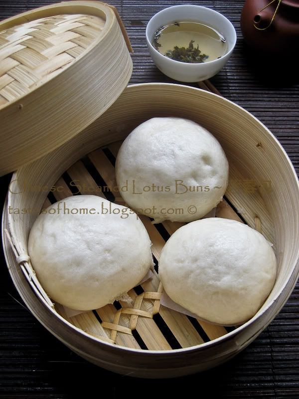 Steamed Chinese Lotus Buns