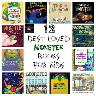 12 Best Loved (not so) Scary Monster Books for Kids. Which is your favorite?
