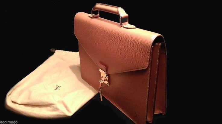 Authentique Louis Vuitton Cartable Serviette Ambassadeur EN Cuir EPI Caramel | eBay