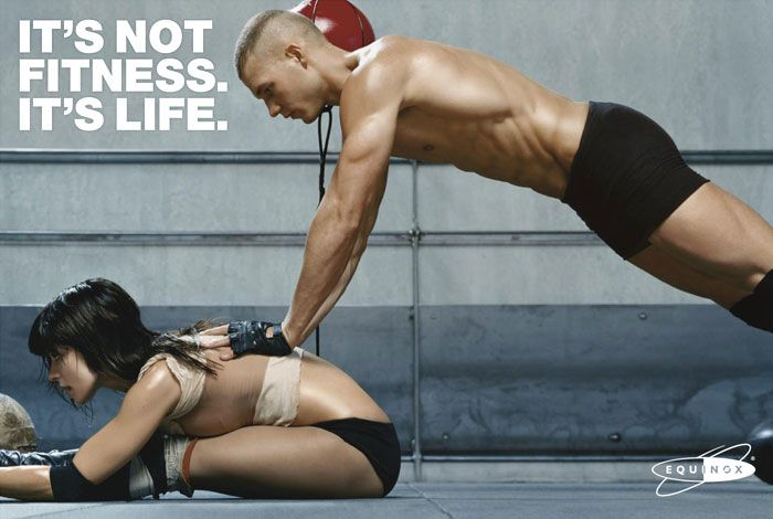 This ad is a good reminder that being fit extends beyond gym walls.
