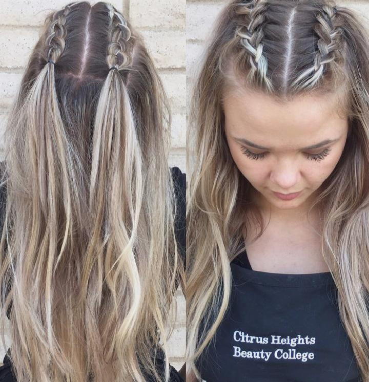 Two Top Head Braids Cutehairstyles Braids For Long Hair Hair Styles Long Hair Styles