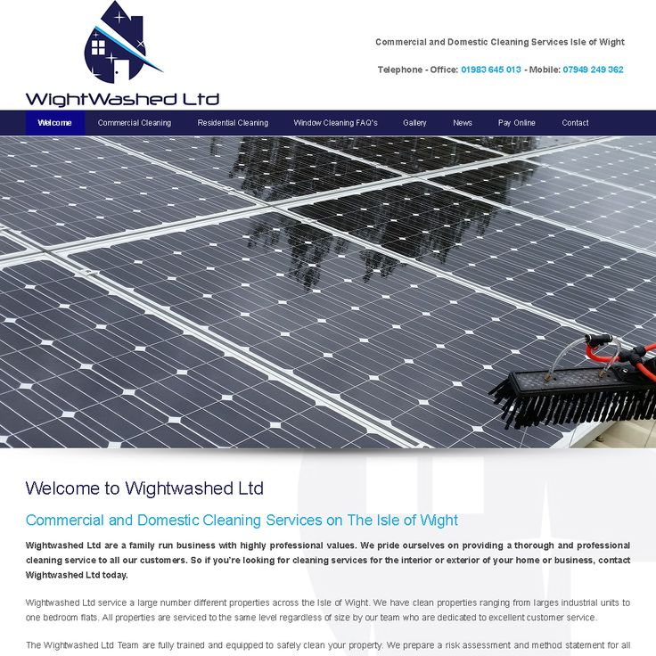 New mobile friendly website for Wightwashed Ltd, Commercial and Domestic Cleaning Services on The Isle of Wight