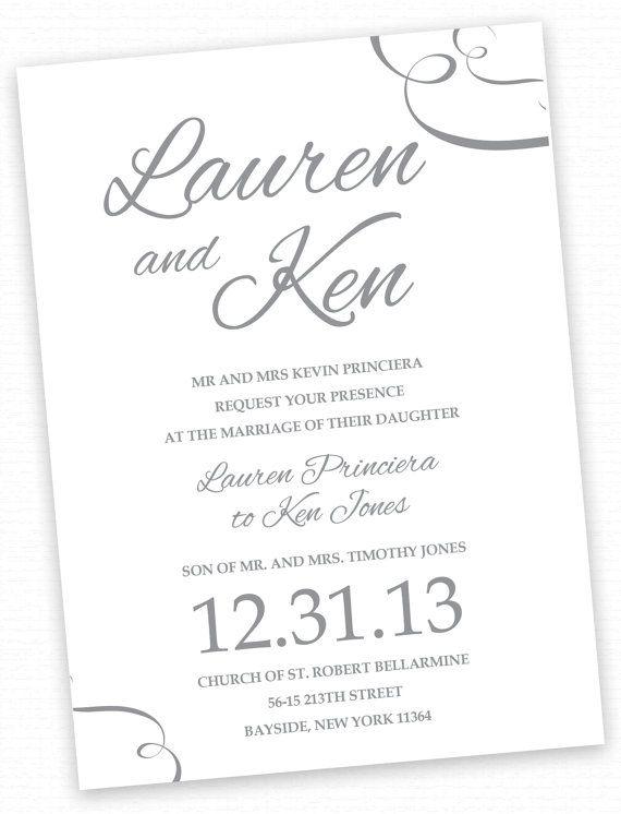 97 best my wedding designs images on pinterest wedding designs simple text based calligraphic typographic wedding invitations christimariecreative stopboris Choice Image