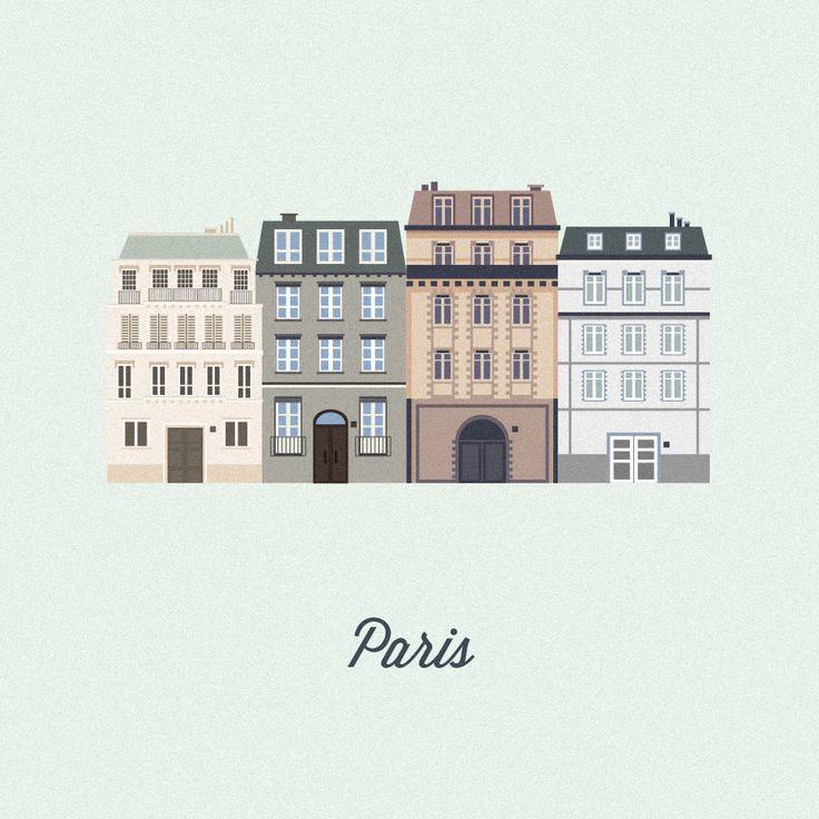 Vector Cities | Gloria Ciceri || Illustration, City, House, France, Paris, Graphic Design