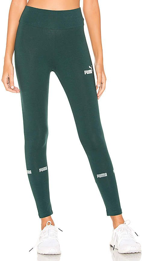 Puma Amplified Womens Ladies Sports Fitness Legging Black Activewear