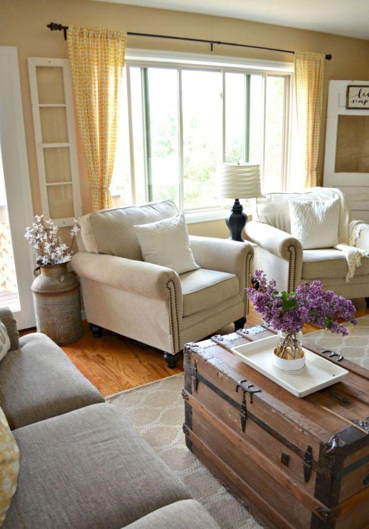 Rustic Farmhouse Living Room Furniture Decor Ideas 27