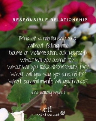 Responsible Relationships  Monday Inspiration