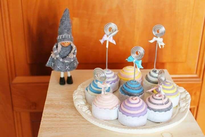 Memory cake! Cupcake in feltro colorato ❤