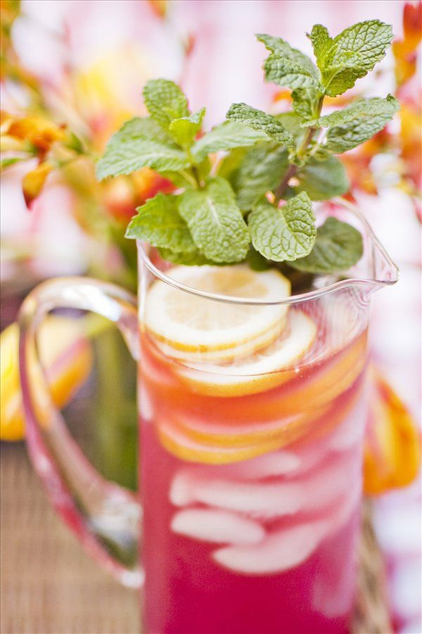 Hibiscus Lemonade great for a garden or summer party.