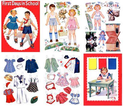 (⑅ ॣ•͈ᴗ•͈ ॣ)♡                                                             ✄First Days in School,Hilda Miloche, 1942-All Card