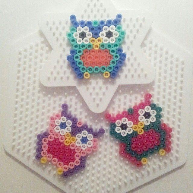 Owls hama beads by kristin_danielhaugen