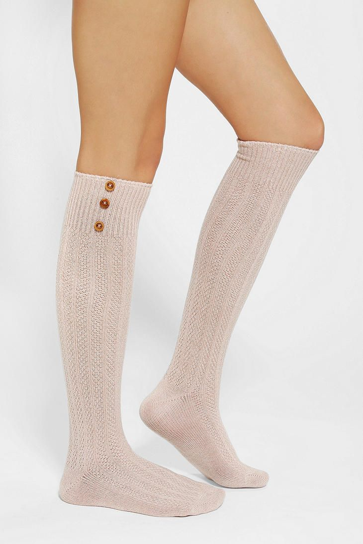 Buttoned-Up Knee-High Sock with boots