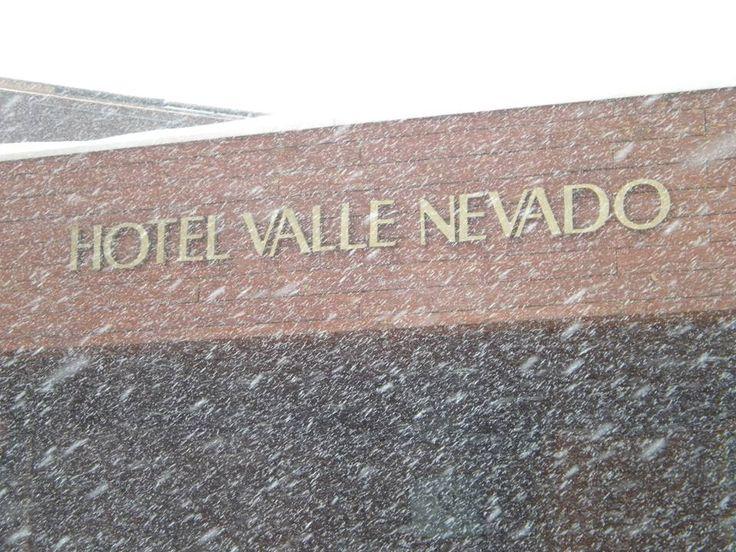 Snow...Valle Nevado Hotel.