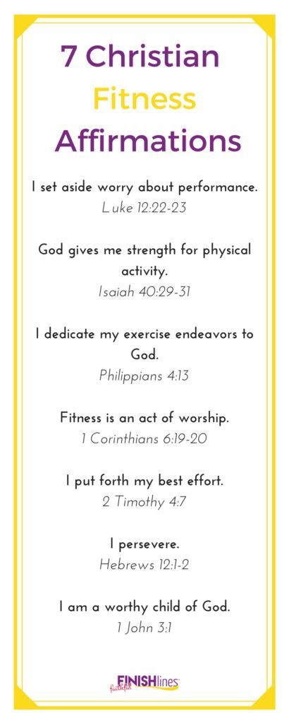7 Christian Fitness Affirmations|Christianity|Faith|Fitness|Motivation|Exercise|Bible Verse