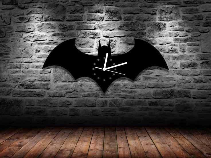 Free Shipping 1Piece Solid Handmade Batman Logo Acrylic Wall Clock //Price: $41.65 & FREE Shipping //     #captainboomerang #eldiablo #killercroc #enchantress #rickflag #skwad #robbie #leto #thejoker #dc #batman #brucewayne #batmanvsuperman
