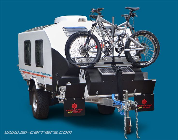 kimberley off-road caravan with bicycles