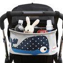 Die Kinderwagentasche ist ein praktischer und stylischer Begleiter für unterwegs. So ist beim Spaziergang mit dem Kinderwagen alles an seinem Platz. Die **abwischbare** Tasche hat **zwei isolierte...