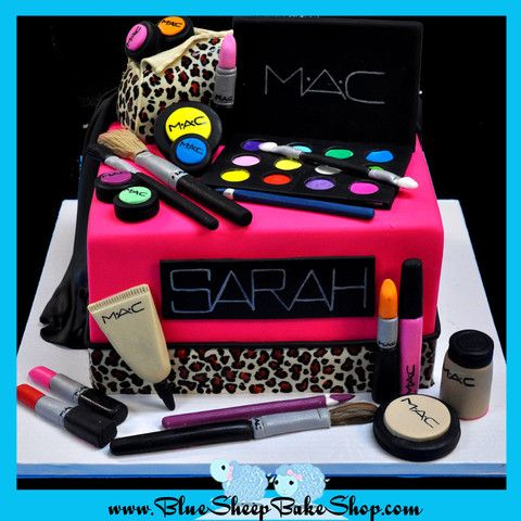 Makeup Sweet 16 Cake! lol it has my name on it !
