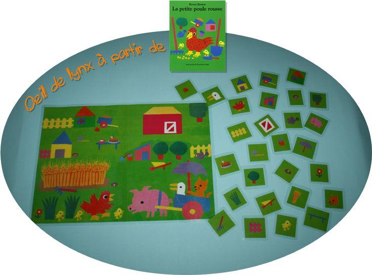La maternelle de ToT: LES PETITES POULES ROUSSES - OEIL DE LYNX