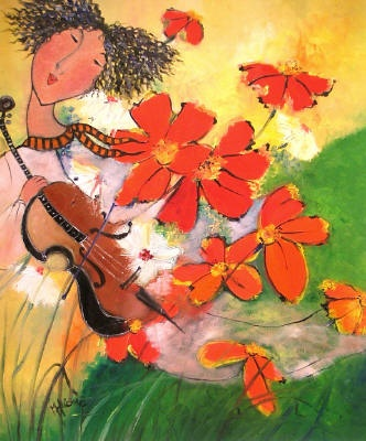 One of our very good painter, Patricia Nguyen Minh Huong, borned in south west Asia, but in Quebec since 1979, she is very colorful :)