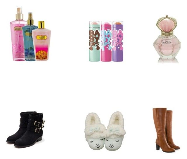 Untitled #7 by sofiaidaanneli98 on Polyvore featuring beauty, Victoria's Secret, Rupert Sanderson, Jilsen Quality Boots and Maybelline