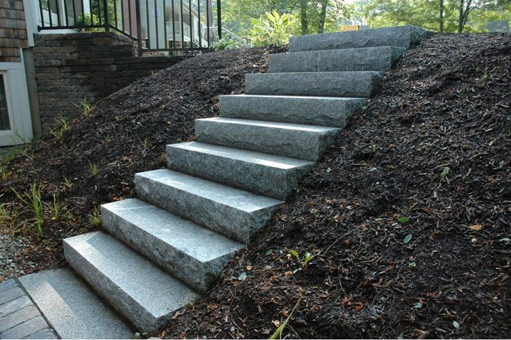 natural looking concrete stairs