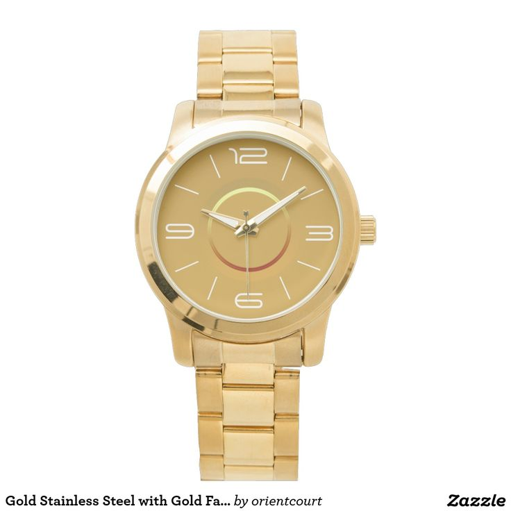Gold Stainless Steel with Gold Face>Bracelet Watch