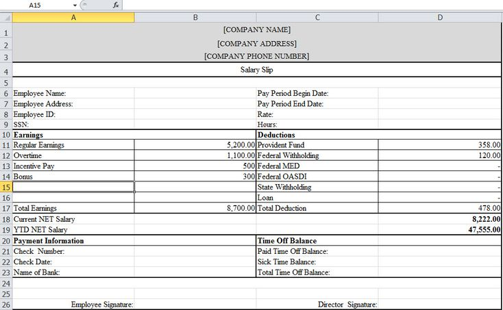 Payslip Template in Excel lechumy Pinterest Template and - free wage slip template