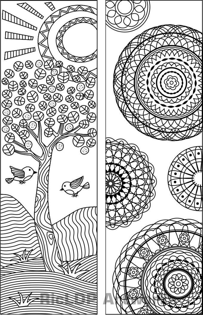 Coloring Pages Zip File : Best bookmark coloring images on pinterest marque