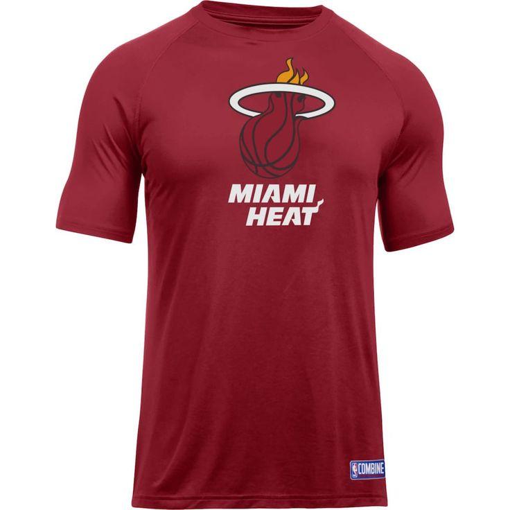 Men's Under Armour Miami Heat Primary Logo Tech Tee, Size: Medium, Red