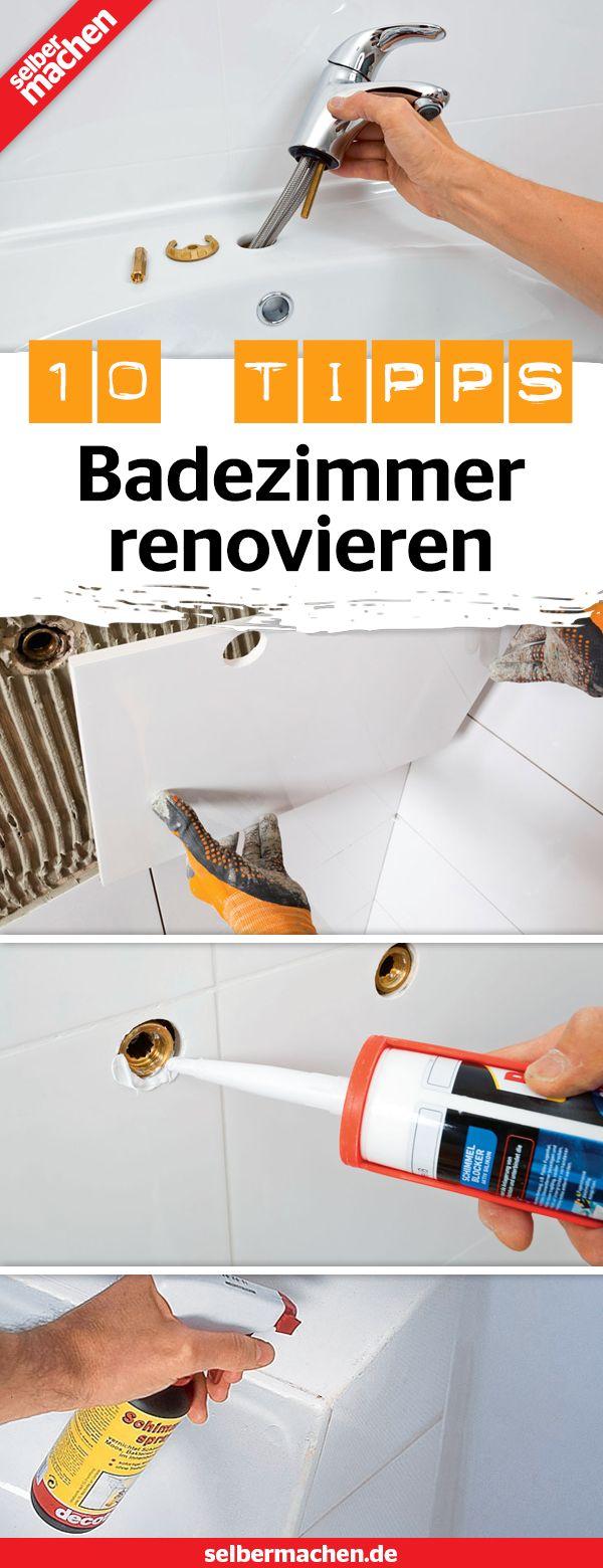 Badezimmer renovieren 10 DIYTipps mit Anleitung  DIY