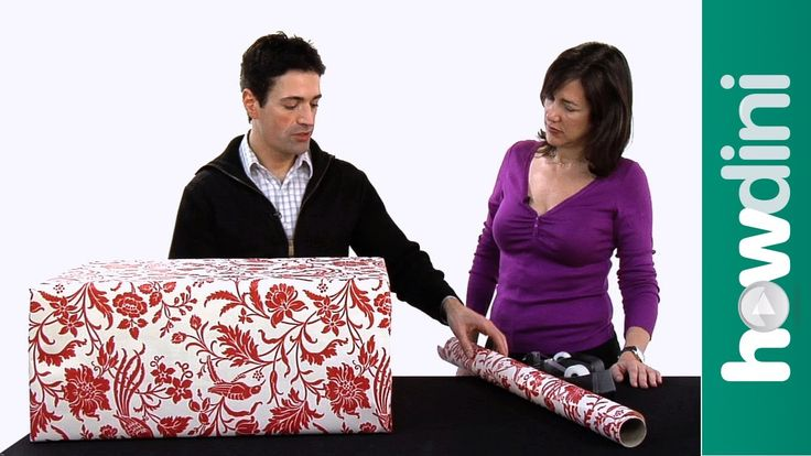 How to gift wrap a large gift. This video show you how to wrap a large gift box beautifully.