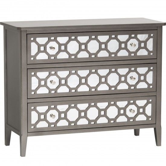 Kaylan 3 Drawer Mirrored Chest   Furniture   Bedroom   Nightstands   Mirrored  Furniture
