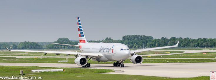 Airbus A330 der American Airlines am Flughafen München