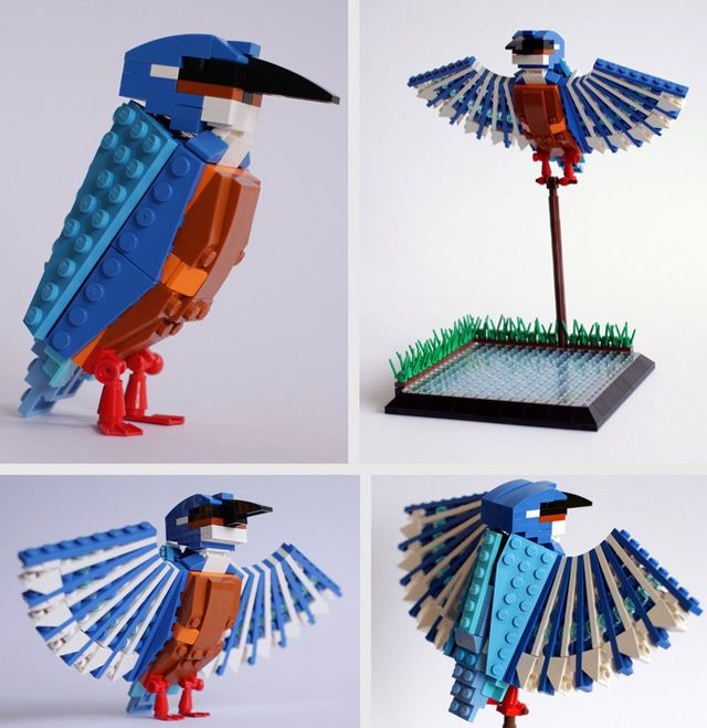British Birds Made of LEGO | Colossal