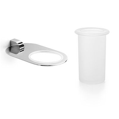 WS Bath Collections Muci 5530.29+55003 Collection Muci Bathroom Tumbler and Holder
