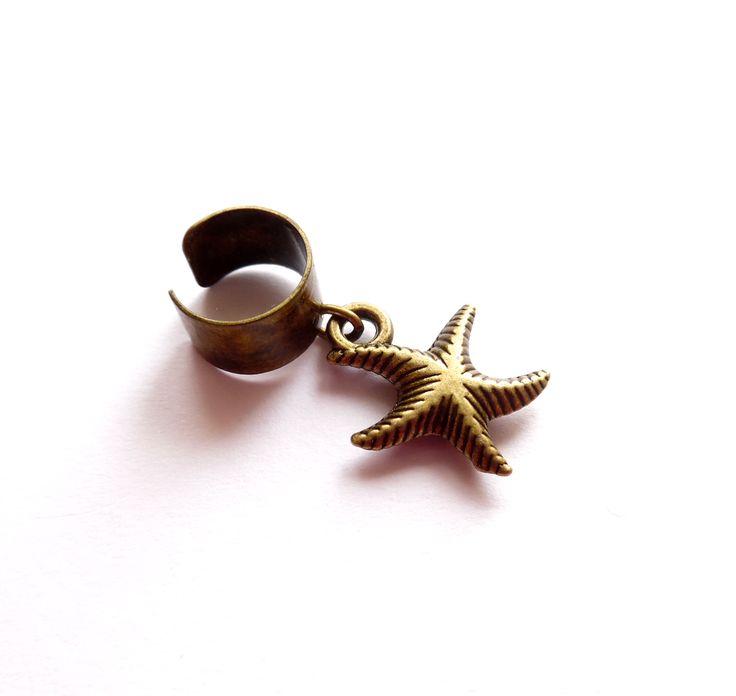 Ear cuff med sjöstjärna