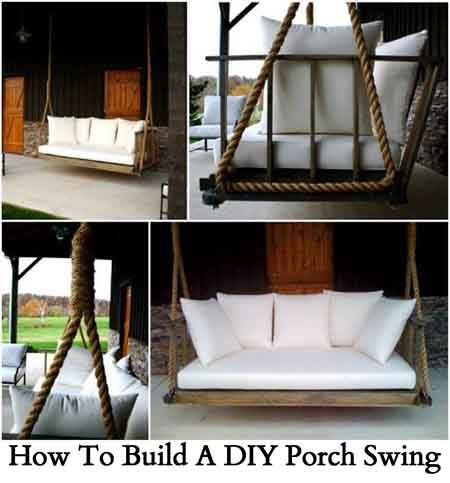 How to build a diy porch swing the home pinterest for Diy patio bed