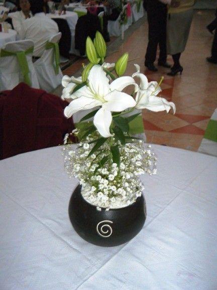 centros de mesa para bodas centro de mesa para boda base en barro color