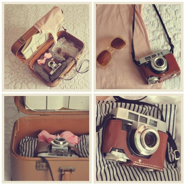 Are we leaving? To some vintage plesce... Yvette Inufio is a fabulous photographer and has such an incredible style with compositions. I love vintage cameras, as every photographer does, and the luggage is simply perfect!