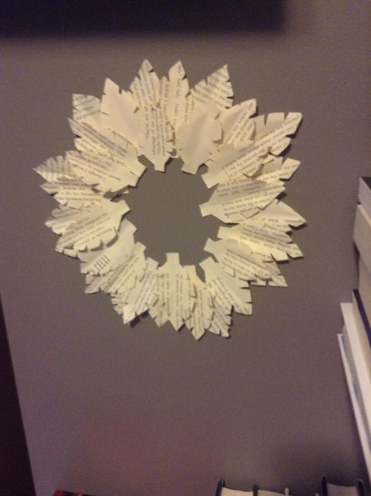 Leaf flower made out of book paper
