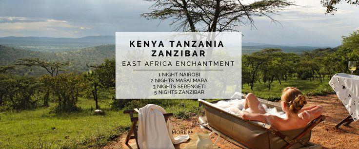 1 Night Nairobi, 2 Nights Masai Mara, 3 Nights Serengeti, 5 Nights Zanzibar