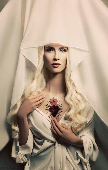 Madonna The White photo, concept and style Katarzyna Widmanska model Anna Niczyporuk mua Katarzyna Świebodzińska Make-Up Artist hair style Wojtek Kasprzak tatoo Tatuaże Zmywalne: