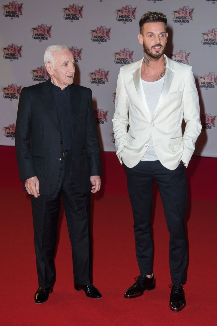 Charles Aznavour et Matt Pokora aux NRJ Music Awards 2015