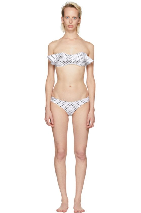 87356ffa62009 Lisa Marie Fernandez - White Natalie Flounce Bonded Bikni | swim ...