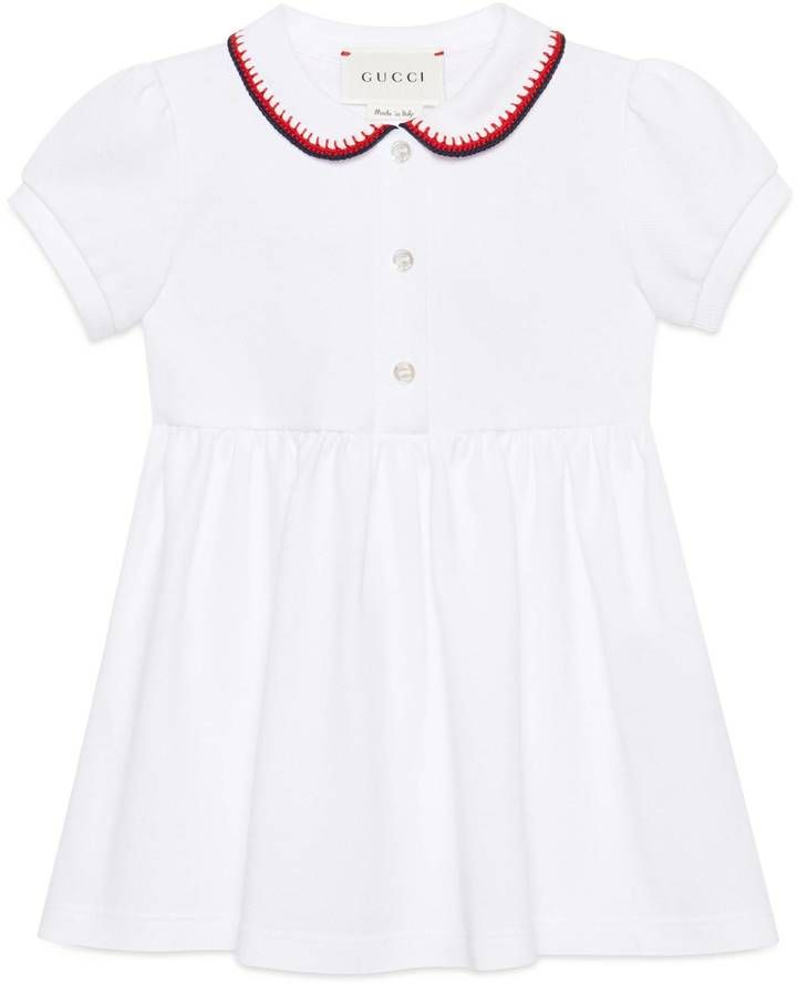 Baby polo dress with crochet trim #ShopStyle #giftideas #holidays click for information or to buy.