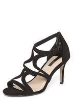 Womens Black 'Sienna' Cage Sandals- Black
