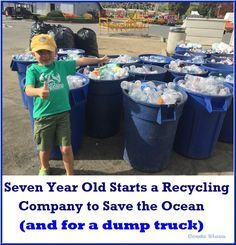 This kid is incrediable! 3 Year Old Boy Starts a Recycling Company to Save the Ocean (and for College) Click the photo to read and share his story!