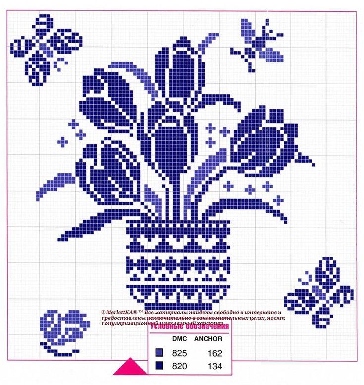 Вышивка крестом - 50 схем цветов и композиций. Обсуждение на LiveInternet - Российский Сервис Онлайн-Дневников