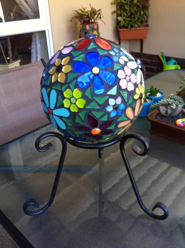 My stained glass gazing ball